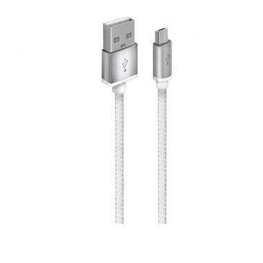 OXION DCC028 дата-кабель с возможностью зарядки для Samsung USB 2.0 (M) - Micro-USB (M),1,5м белый оптом