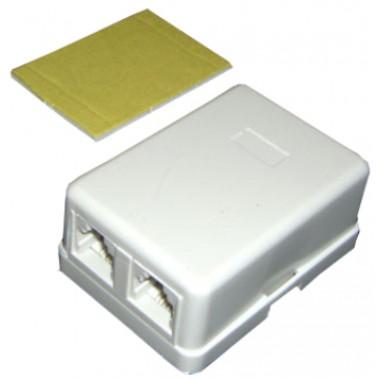 Телефонная розетка евро 2 гнезда 2 линии 6p4c оптом