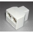 Адаптер - разветвитель RJ45  2 гнезда 8p8c + гнездо 8p8c