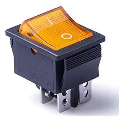 Клавиша большая 4 конт.   КСD4-604AA1 BOA6C  желтая [50 !], КСD4-604AA1 BOA6C оптом