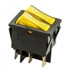 Клавиша большая 6 конт.   КСD3-604DA1 BOA6C  желтая [50 !], КСD3-604DA1 BOA6C