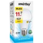 Светодиодная (LED) Лампа Smartbuy-A60-11W/3000/E27 ,теплый свет