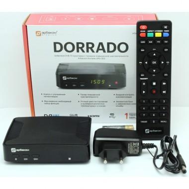 Эфирный ресивер DORRADO DVB-T2(пластик, дисплей, кнопки) оптом