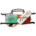 Электрический удлинитель на рамке ДЖЕТТ РС-3 ( провод ПВС оранжевый) 10 м