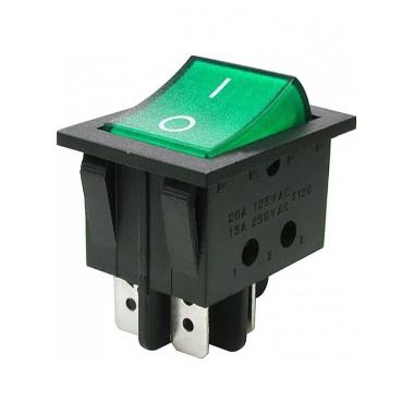Клавиша большая 4 конт. КСD4-604AA1 BEA6C зеленая оптом