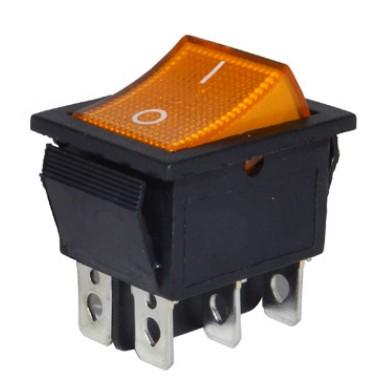 Клавиша большая 6 конт. КСD4-604AA2 BOA6C желтая оптом