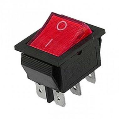 Клавиша большая 6 конт. КСD4-604AA2 BRA6C красная оптом