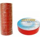Лента изоляционная ПВХ LEXTON красная 25m/19mm
