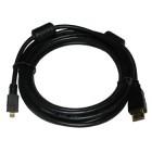 Аудио видео кабель HDMI-microHDMI, GOLD 3 м [1/10]