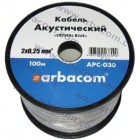 Акустический кабель 2x0.25мм.кв. 100м (прозрачный с синей полосой) APC-030