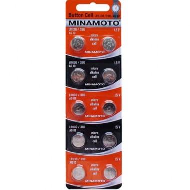 MINAMOTO LR1130/360/AG10, 10 шт. оптом