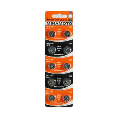 MINAMOTO LR44/357/AG13 10BP, 10 шт. оптом