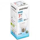 Светодиодная (LED) Лампа Smartbuy-C37-07W/4000/E27,тип свеча,холодный свет