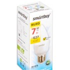 Светодиодная (LED) Лампа Smartbuy-C37-07W/3000/E27,тип свеча,теплый свет