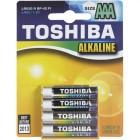 TOSHIBA Alkaline LR03 4BP, 4 шт.