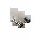 ТВ(PAL) штекер,на кабель RG6/U,винт-обжим (белый пластик-никель) APP-227_W