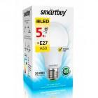 Светодиодная (LED) Лампа Smartbuy-A60-05W/3000/E27 ,теплый свет
