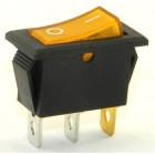 Клавиша  средняя 3 конт.   XW-604EA1 BOA6C желтая  h=21мм [100 !], XW-604EA1 BOA6C