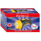 Фонарь Ultraflash LED3804 (аккум 220В, черный/желтый, 4 LED, SLA, пластик, коробка)