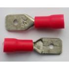 Разъем плоский изолированный штекер(папа) (MDD1.25-250) Красн., 0.5-1.5мм.кв * 6.35мм