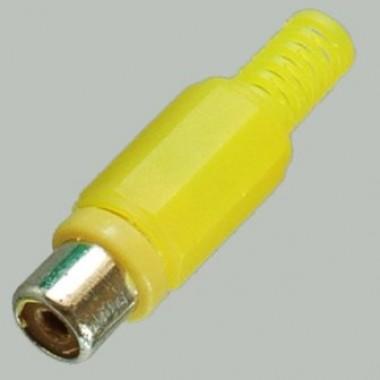 RCA(тюльпан) гнездо,на кабель 3.2мм, (желтый пластик-никель) APP-090_Y оптом