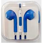 Наушники iPhone в коробке с яблоком,синие