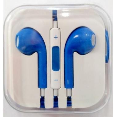 Наушники iPhone в коробке с яблоком,синие оптом