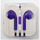 Наушники iPhone в коробке с яблоком,фиолетовые
