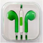 Наушники iPhone в коробке с яблоком,зеленые