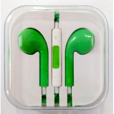 Наушники iPhone в коробке с яблоком,зеленые оптом