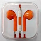 Наушники iPhone в коробке с яблоком,оранжевые