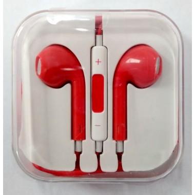 Наушники iPhone в коробке с яблоком,красные оптом