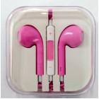 Наушники iPhone в коробке с яблоком,розовые