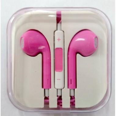 Наушники iPhone в коробке с яблоком,розовые оптом