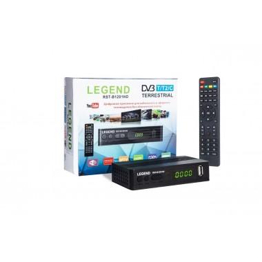 Эфирный ресивер LEGEND DVB-T2/C RST-B1201HD(пластик, дисплей, кнопки) оптом