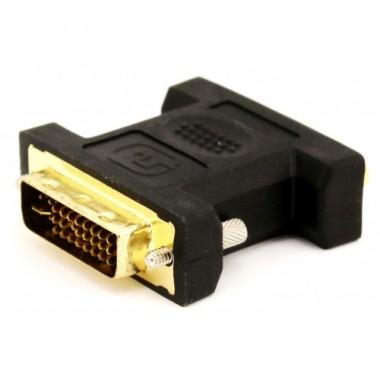 DVI-D штекер - VGA (15pin) гнездо (пластик-никель-золото, ПВХ-упаковка) оптом