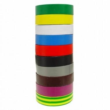 Лента изоляционная ПВХ LEXTON разноцветная,10 цветов, упаковка 10шт. 10m/19mm оптом