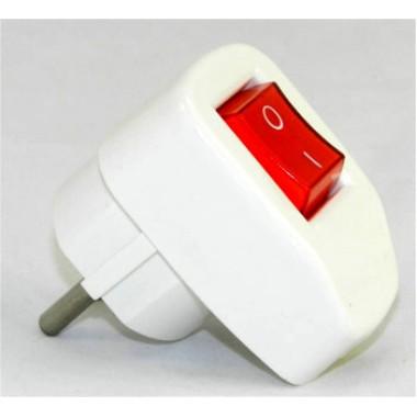 Штепсельная вилка с выключателем FAR F131 16А (з) оптом