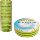 Лента изоляционная ПВХ LEXTON жёлто-зелёная 25m/19mm