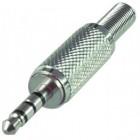 3.5мм 4-контакта(видео+стерео) штекер, на кабель (никель) APP-146