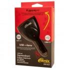 Зарядное устройство Ritmix RM-021,автомобильное,2 USB 5V+прикуриватель,1.2А