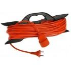 Удлинитель на рамке штепсель для газонокосилки шнур ПВС оранжевый 2*0.75 – 50м