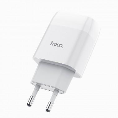 Сетевое зарядное устройство HOCO C81A 1USB 2.1A,белый оптом