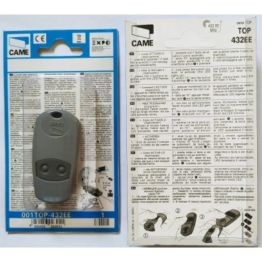 CAME TOP 432 EE 2 кнопки, 2-х канальный серый 433 Mhz оптом