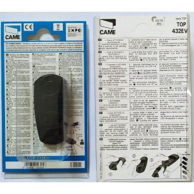 CAME TOP 432 EV 2 кнопки, 2-х канальный черный 433 Mhz оптом