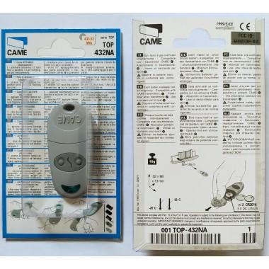 CAME TOP 432 NA 2 кнопки, 2-х канальный серый 433 Mhz оптом