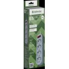 Сетевой фильтр Defender ES Lite 1.8, 1,8 м, 4 розетки,белый