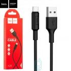 Кабель HOCO X25 USB (m)-Type-C (m) 1.0м 2.0A силикон,черный