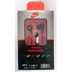 Наушники NIKE stereo earphones HS-51 в упаковке(с кнопкой ответа),черные
