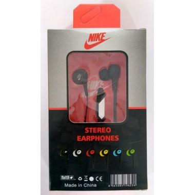 Наушники NIKE stereo earphones HS-51 в упаковке(с кнопкой ответа),зеленые оптом